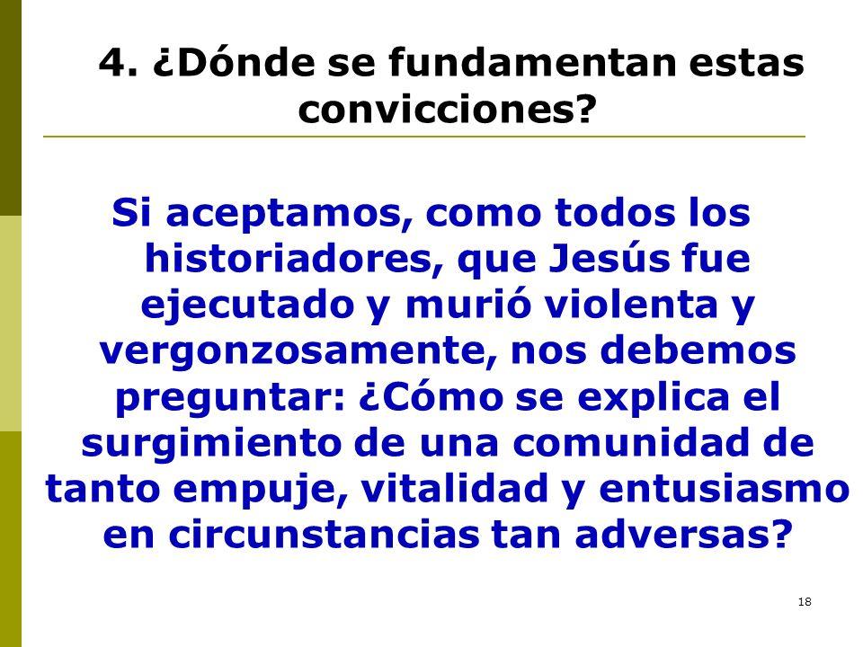 4. ¿Dónde se fundamentan estas convicciones
