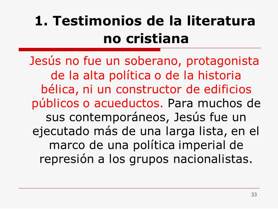 1. Testimonios de la literatura no cristiana