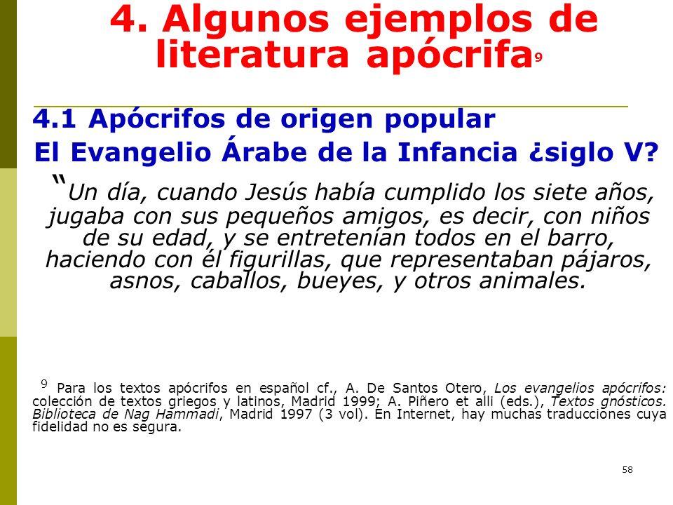 4. Algunos ejemplos de literatura apócrifa9