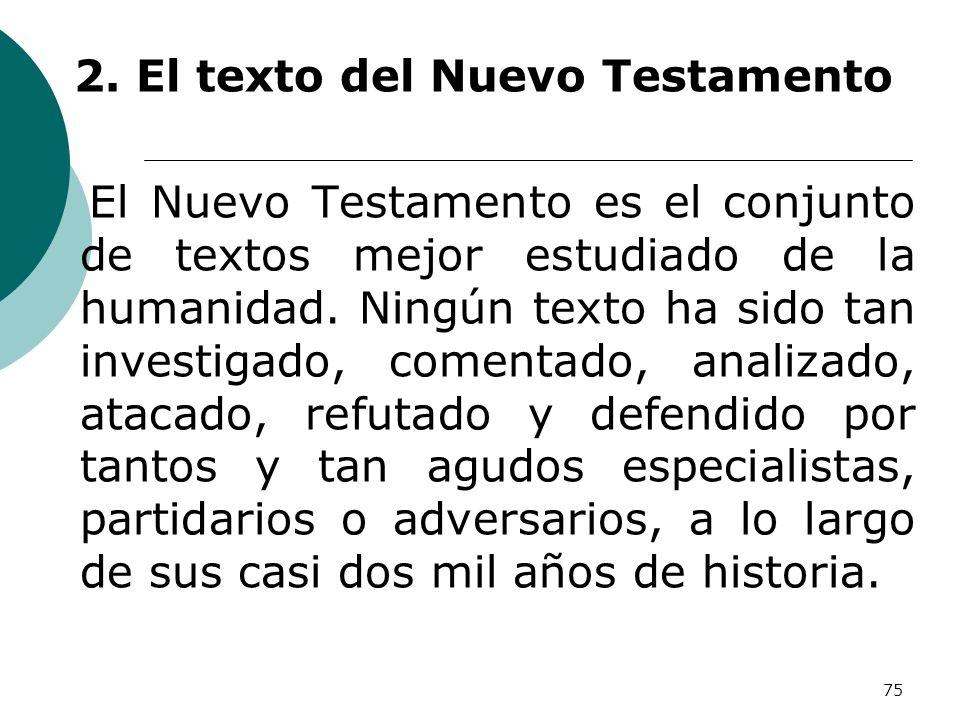 2. El texto del Nuevo Testamento