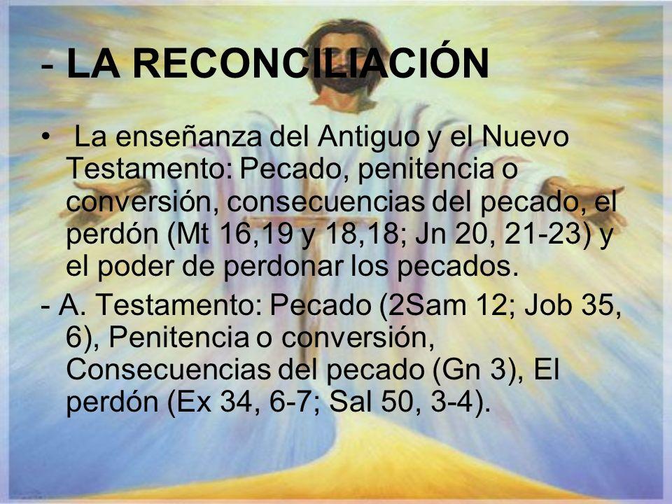 - LA RECONCILIACIÓN