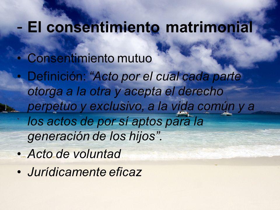 - El consentimiento matrimonial