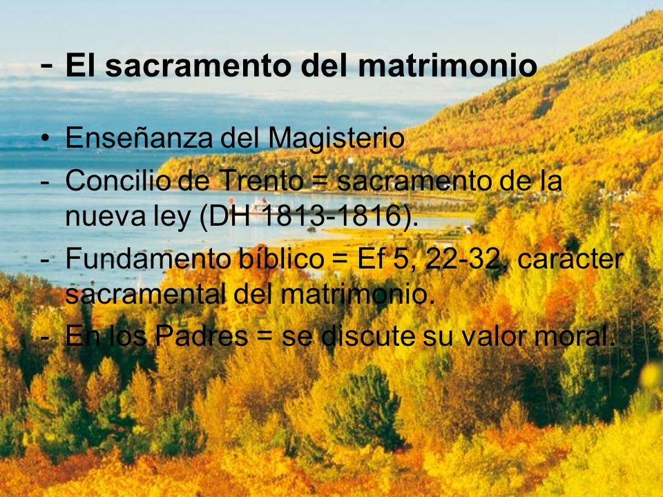 - El sacramento del matrimonio