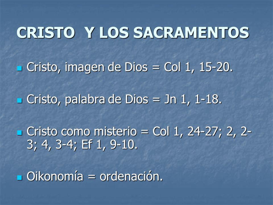 CRISTO Y LOS SACRAMENTOS