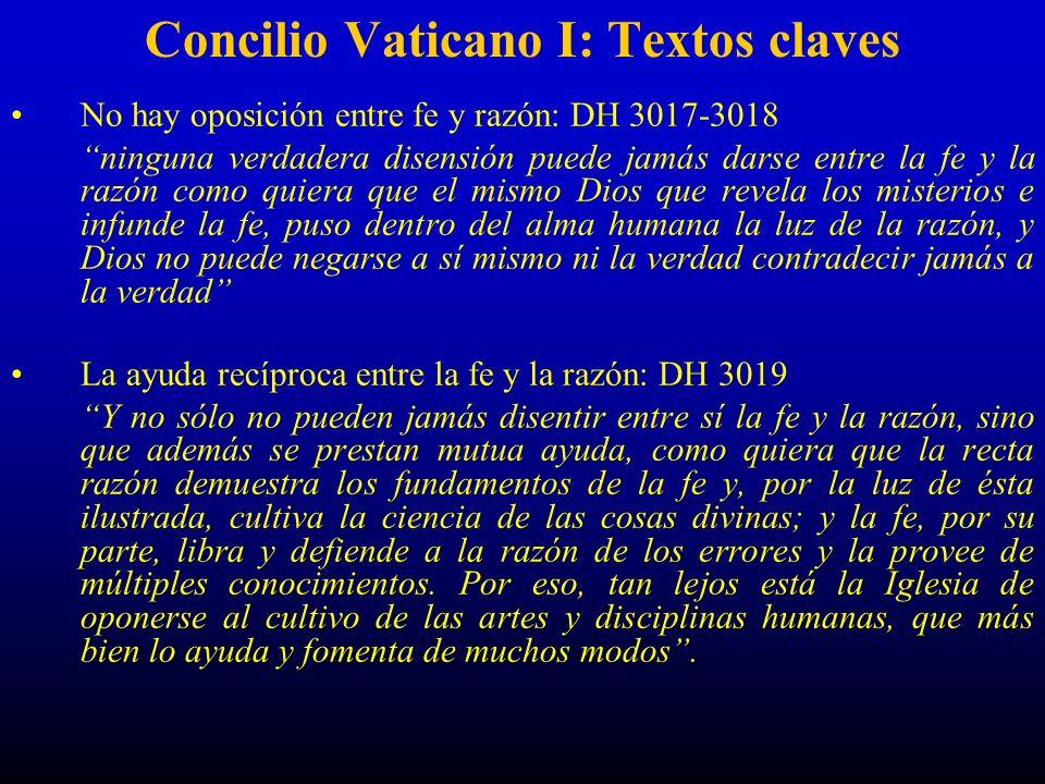 Concilio Vaticano I: Textos claves