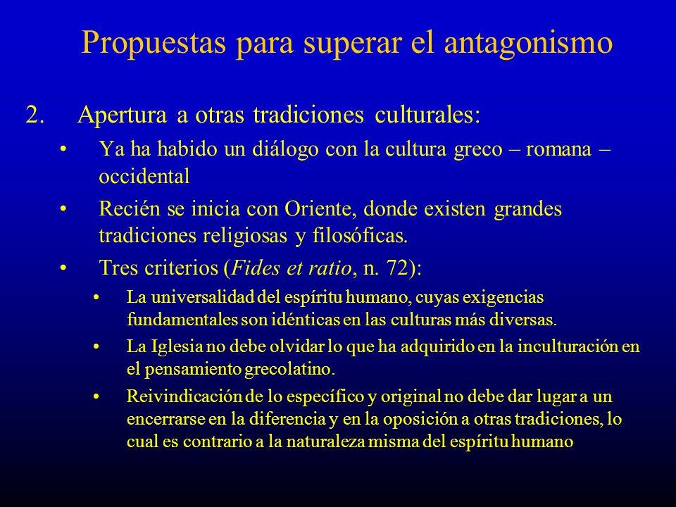 Propuestas para superar el antagonismo