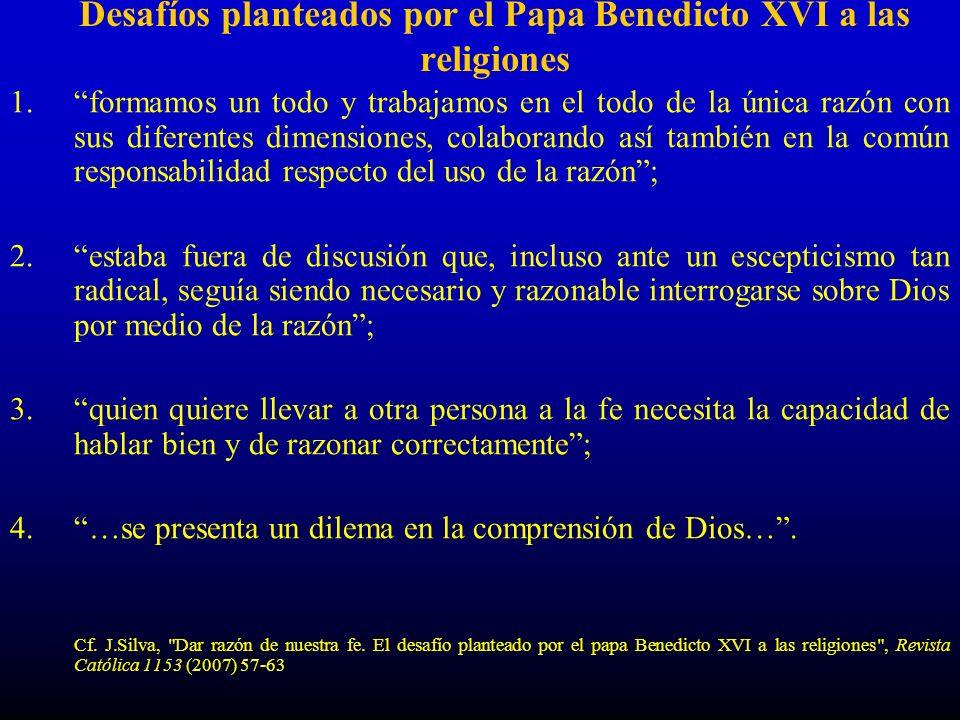 Desafíos planteados por el Papa Benedicto XVI a las religiones