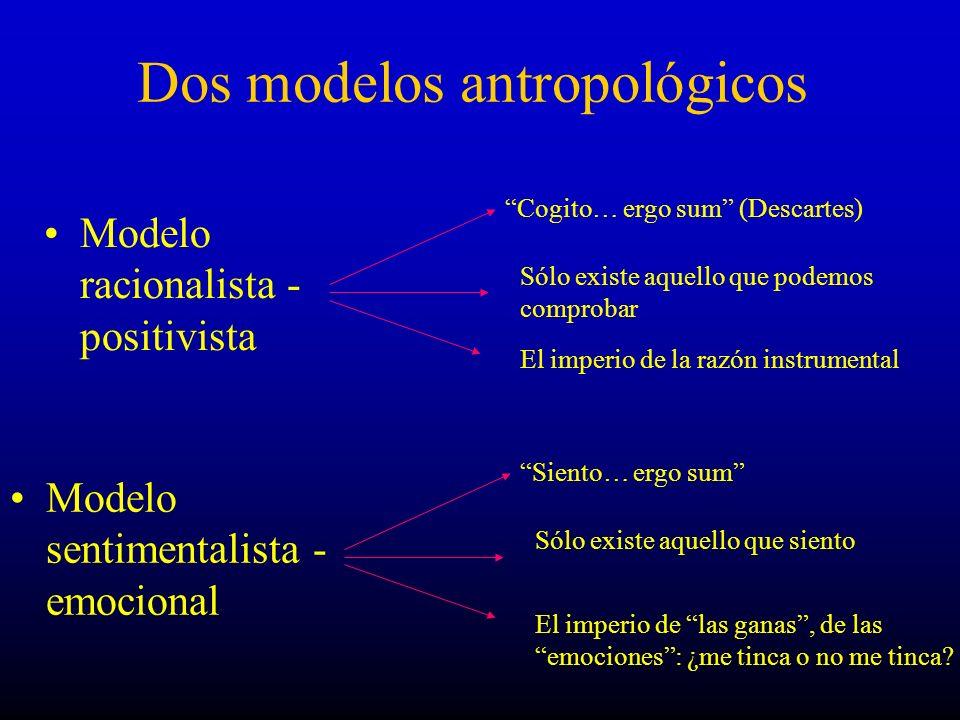Dos modelos antropológicos