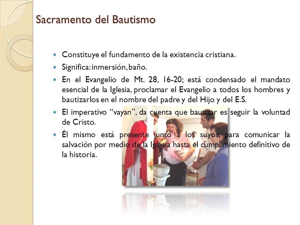 Sacramento del Bautismo