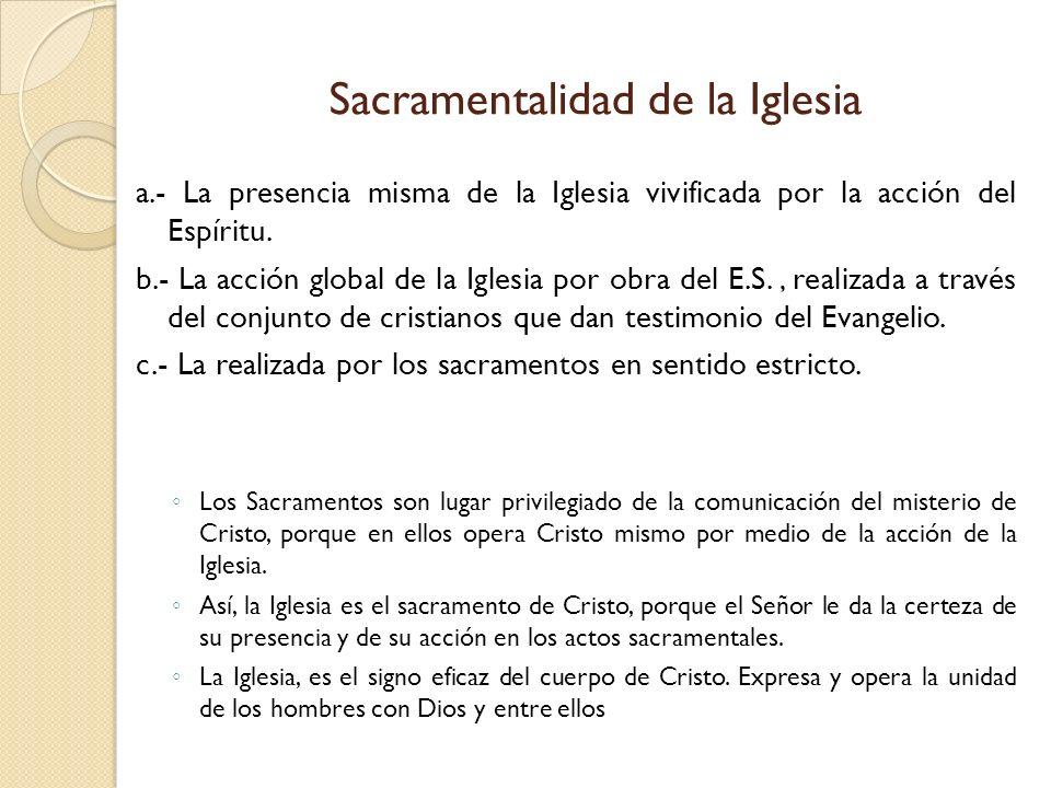 Sacramentalidad de la Iglesia