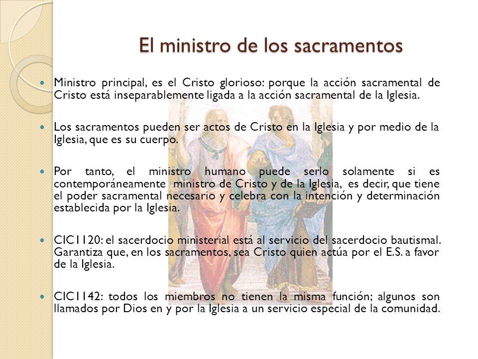 El ministro de los sacramentos