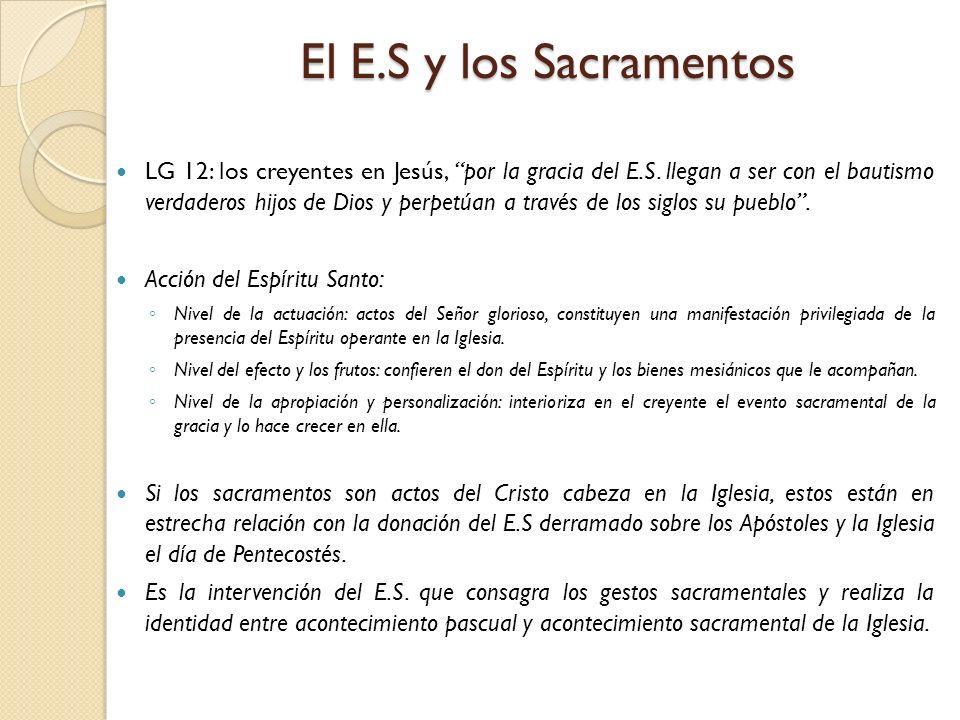 El E.S y los Sacramentos