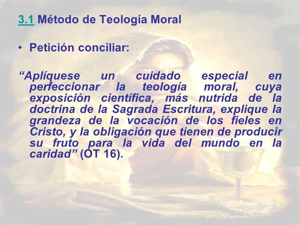 3.1 Método de Teología Moral