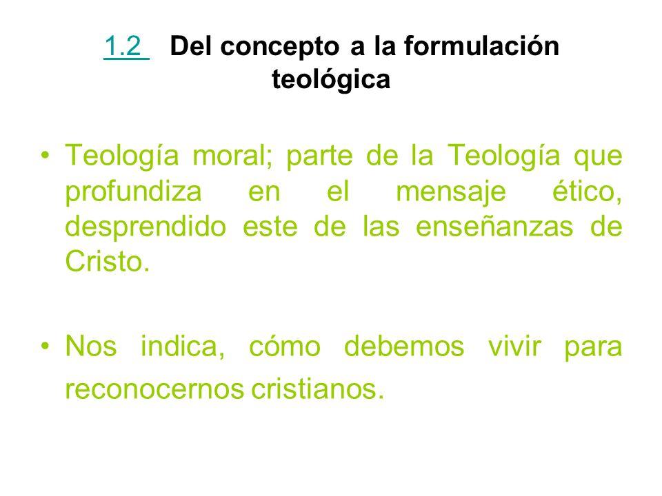 1.2 Del concepto a la formulación teológica