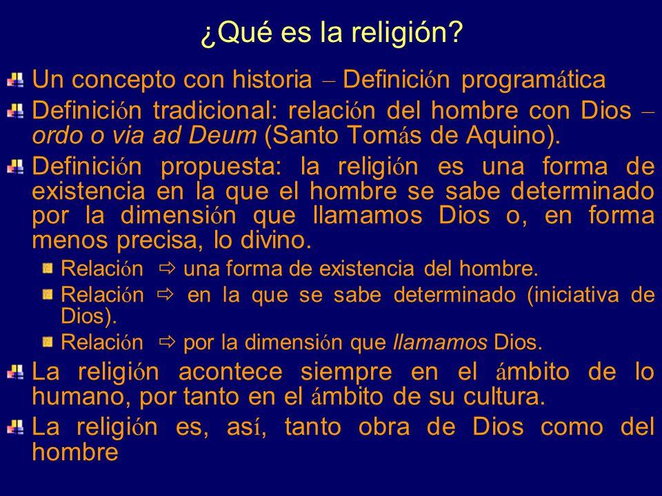 ¿Qué es la religión Un concepto con historia – Definición programática.