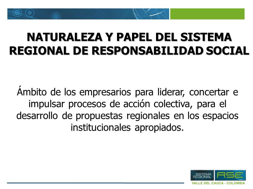 NATURALEZA Y PAPEL DEL SISTEMA REGIONAL DE RESPONSABILIDAD SOCIAL