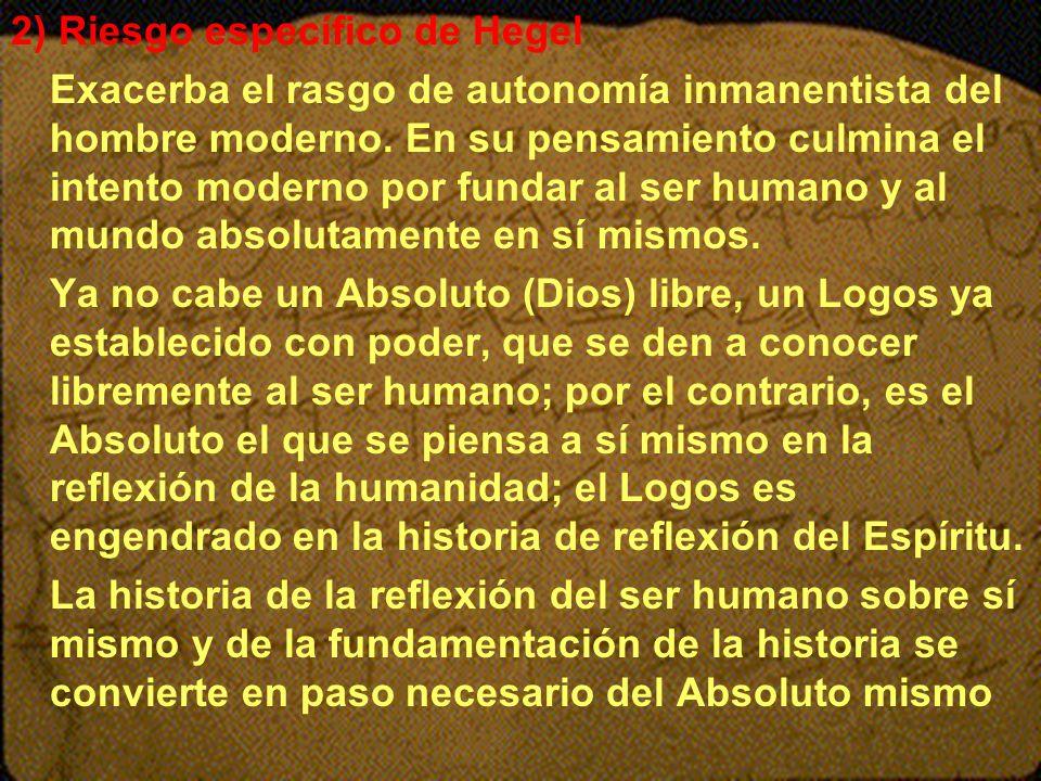 2) Riesgo específico de Hegel