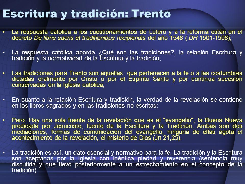 Escritura y tradición: Trento
