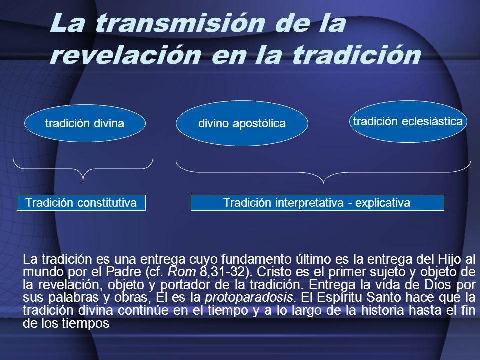 La transmisión de la revelación en la tradición