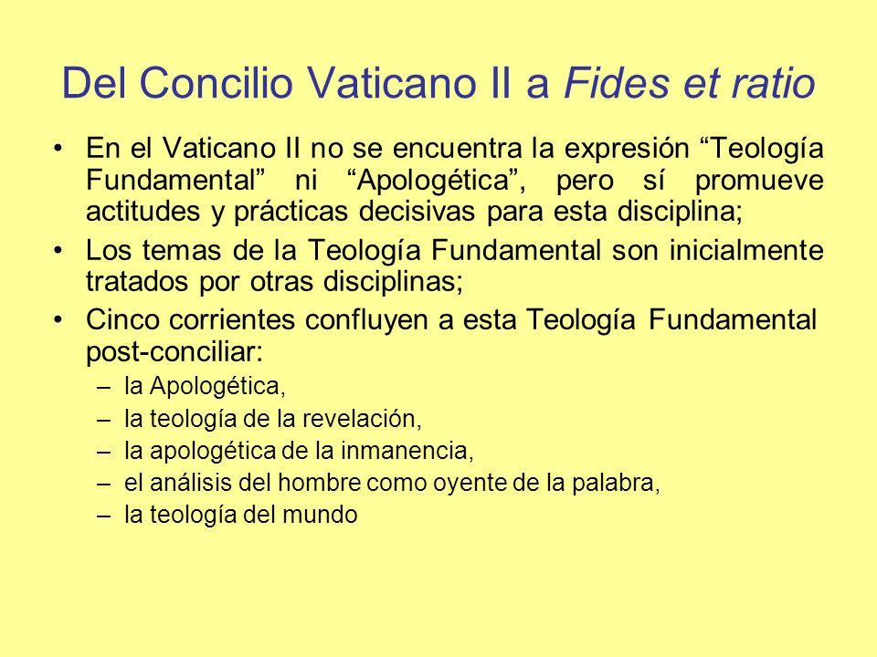 Del Concilio Vaticano II a Fides et ratio