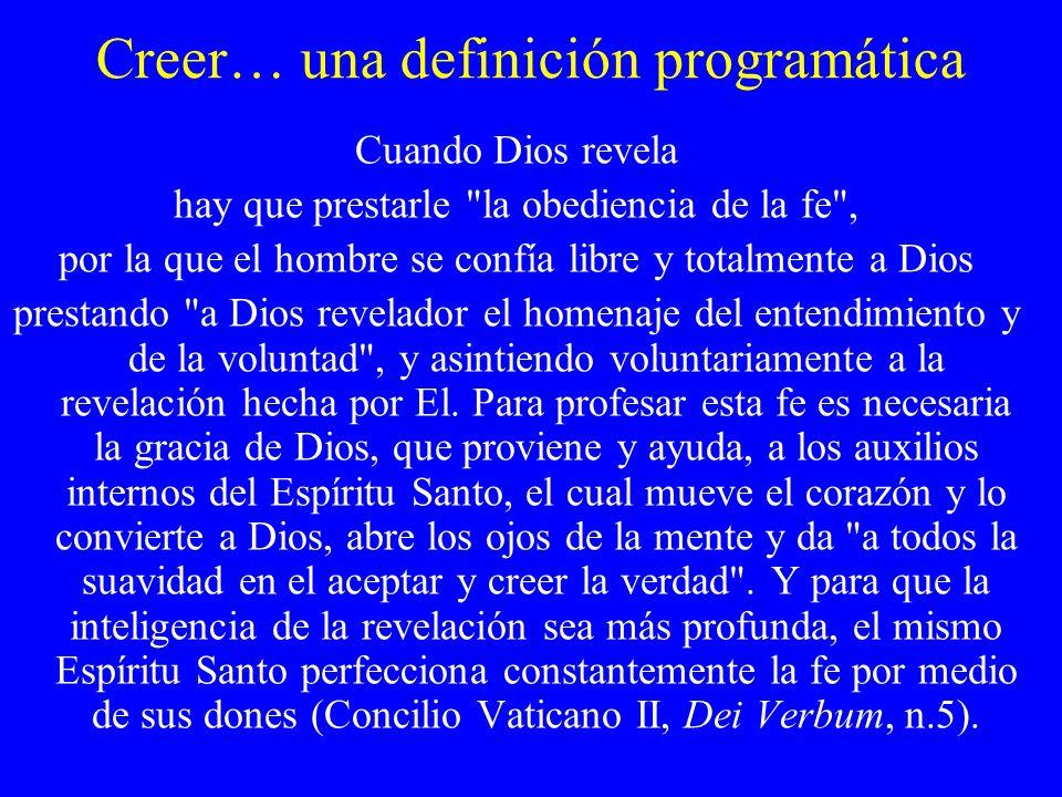 Creer… una definición programática
