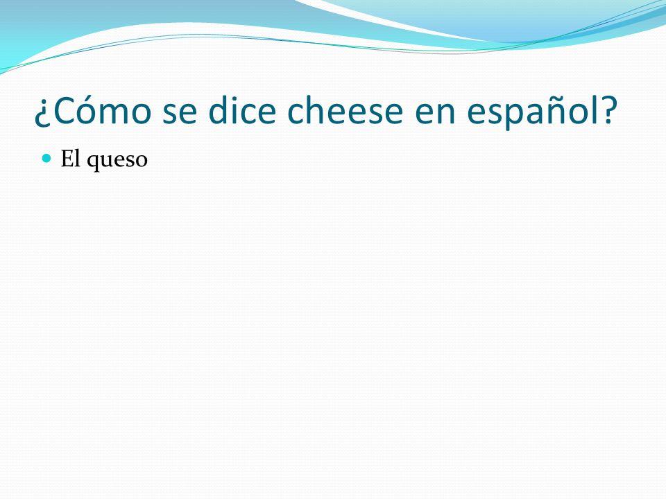 ¿Cómo se dice cheese en español
