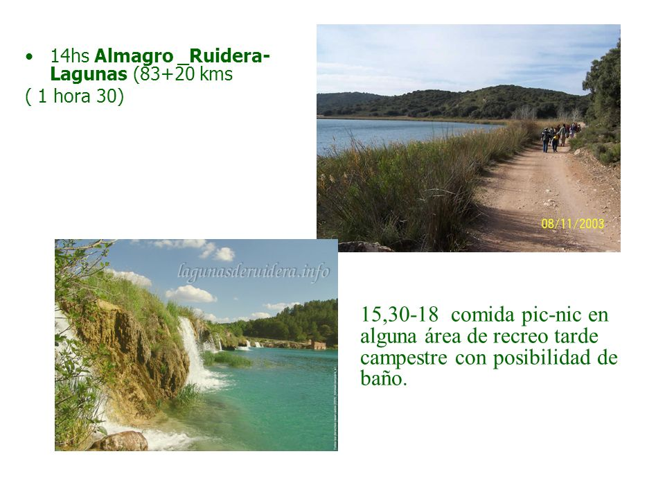 14hs Almagro _Ruidera-Lagunas (83+20 kms