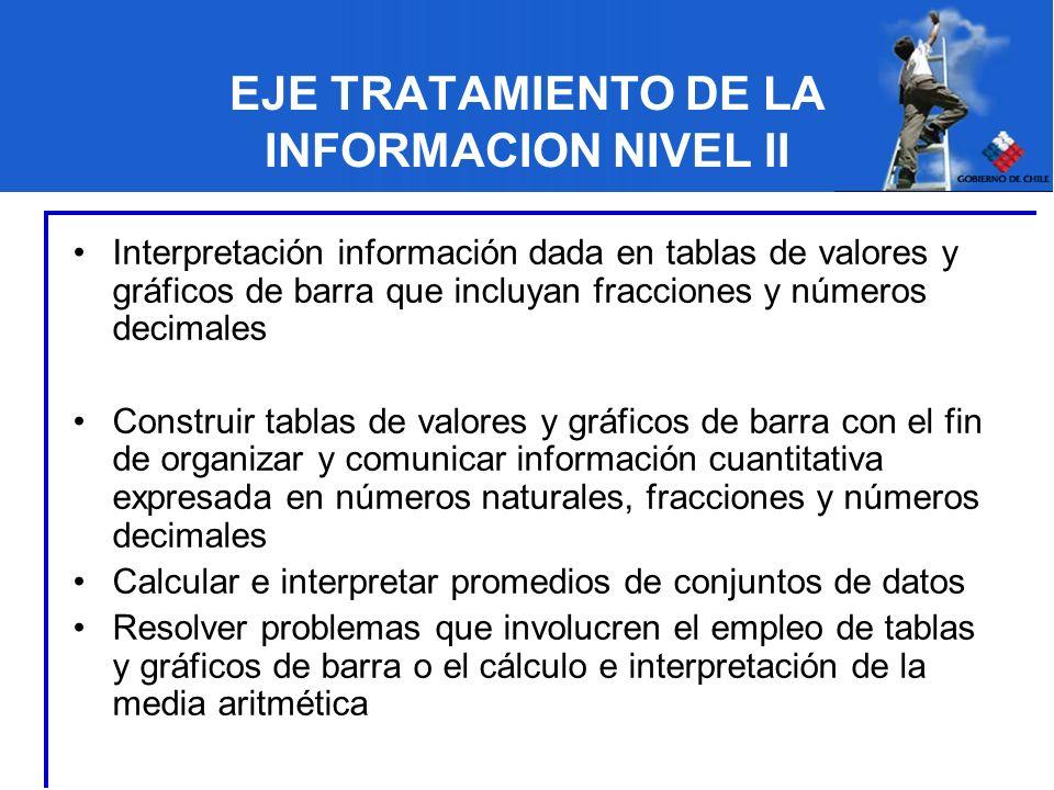 EJE TRATAMIENTO DE LA INFORMACION NIVEL II