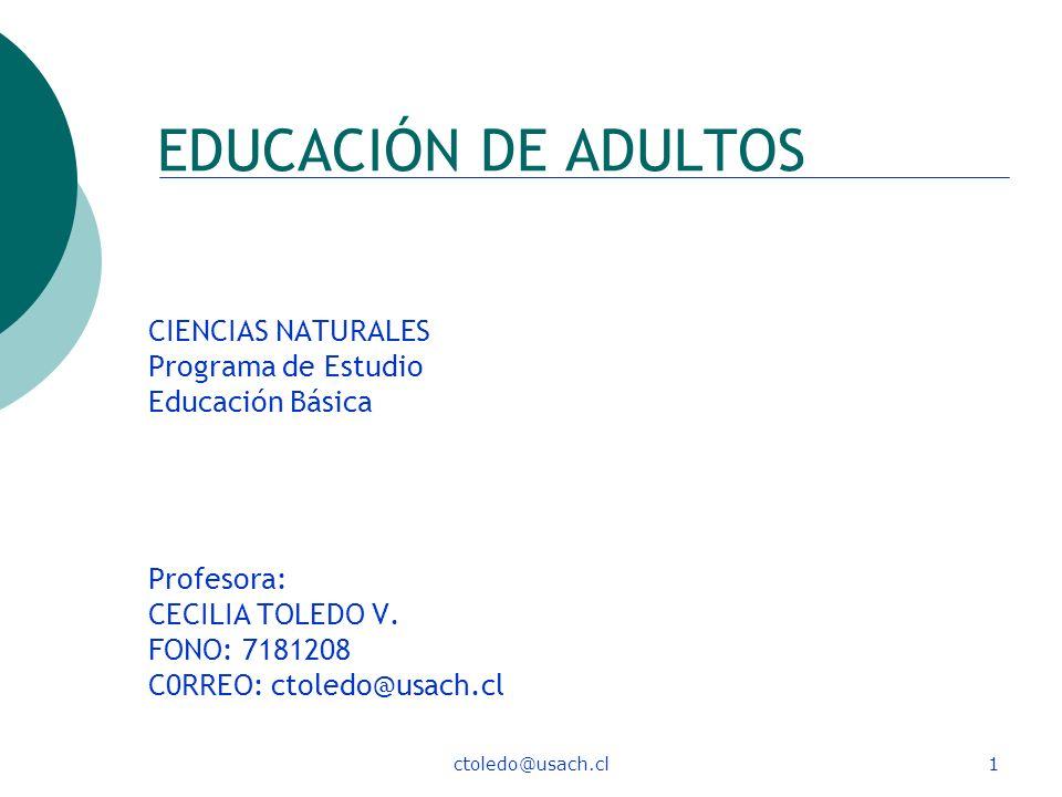 EDUCACIÓN DE ADULTOS CIENCIAS NATURALES Programa de Estudio
