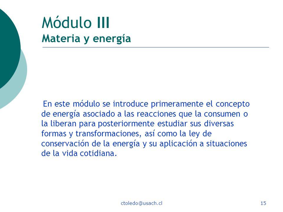 Módulo III Materia y energía