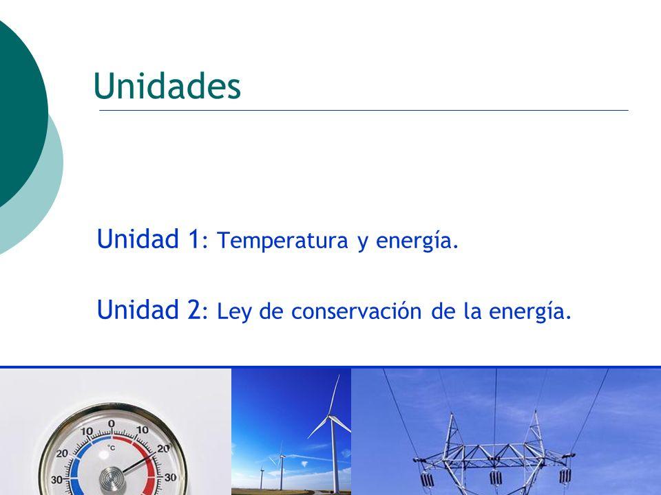 Unidades Unidad 1: Temperatura y energía.