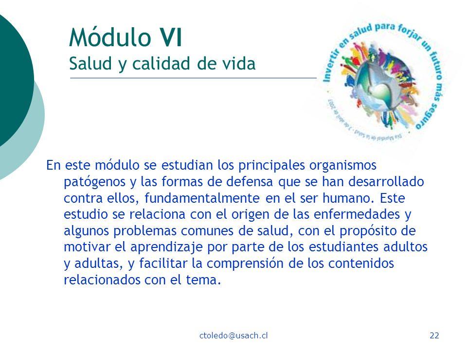 Módulo VI Salud y calidad de vida