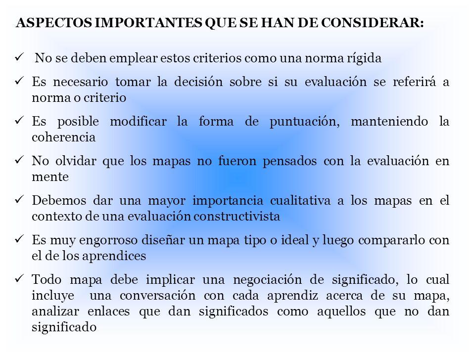 ASPECTOS IMPORTANTES QUE SE HAN DE CONSIDERAR: