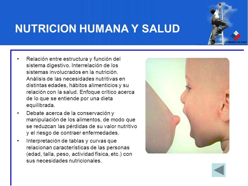 NUTRICION HUMANA Y SALUD