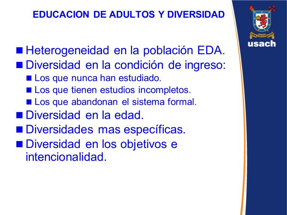 EDUCACION DE ADULTOS Y DIVERSIDAD