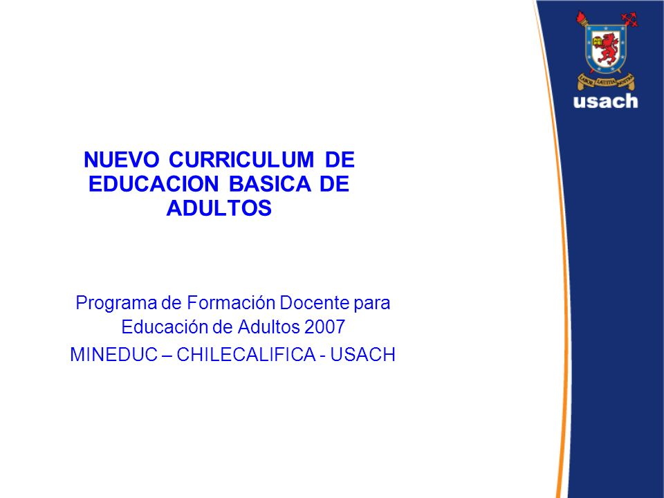 NUEVO CURRICULUM DE EDUCACION BASICA DE ADULTOS