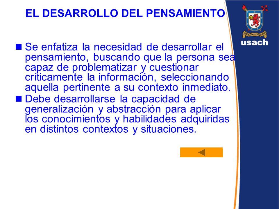 EL DESARROLLO DEL PENSAMIENTO
