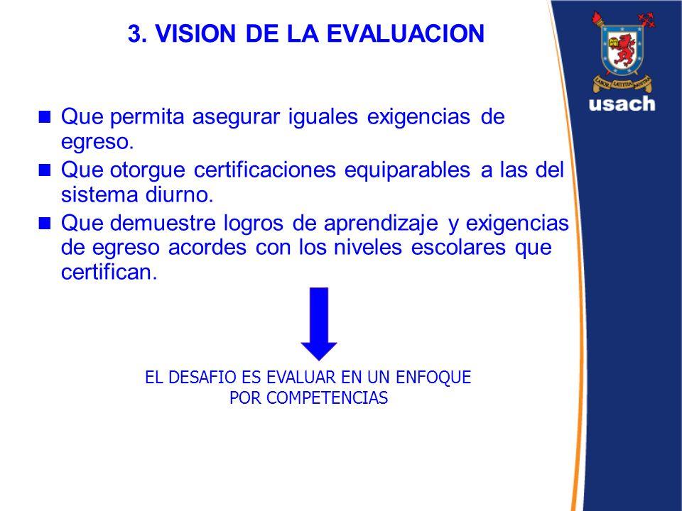 3. VISION DE LA EVALUACION