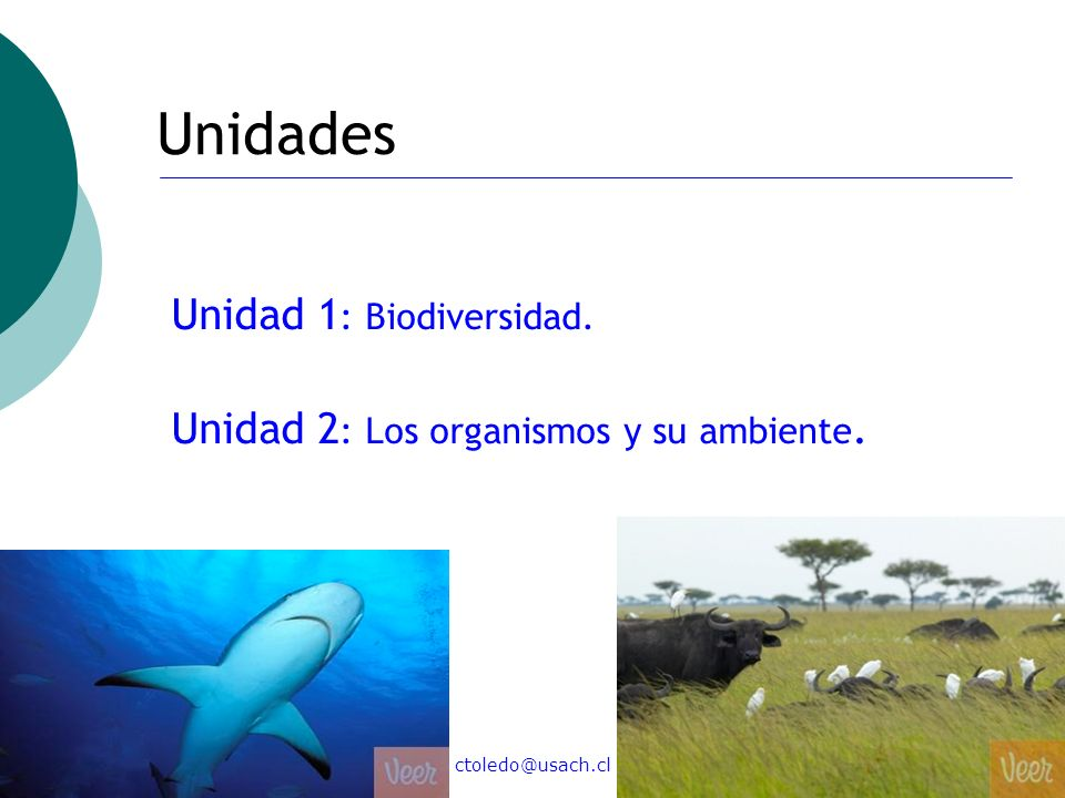 Unidades Unidad 1: Biodiversidad.