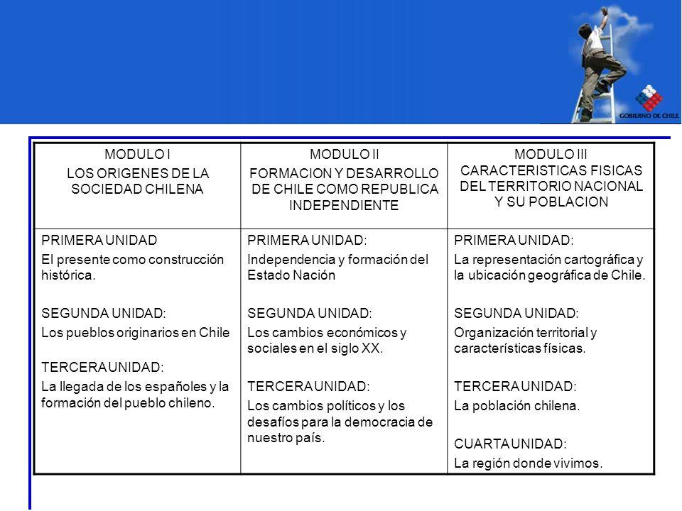 LOS ORIGENES DE LA SOCIEDAD CHILENA MODULO II