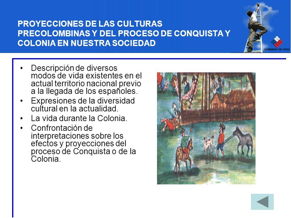 PROYECCIONES DE LAS CULTURAS PRECOLOMBINAS Y DEL PROCESO DE CONQUISTA Y COLONIA EN NUESTRA SOCIEDAD