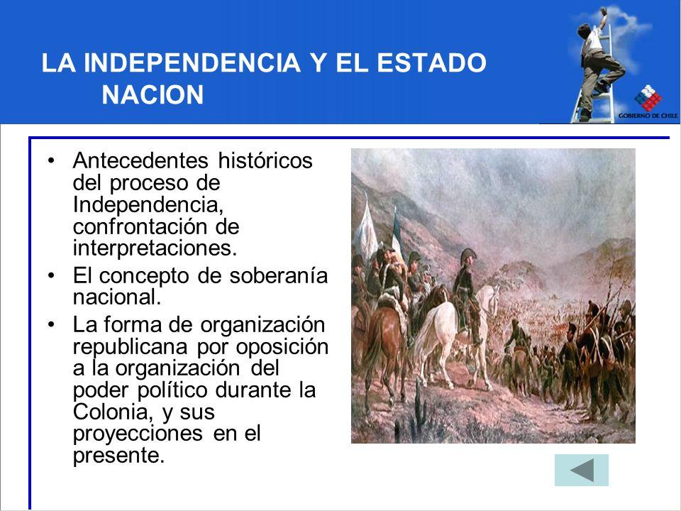 LA INDEPENDENCIA Y EL ESTADO NACION