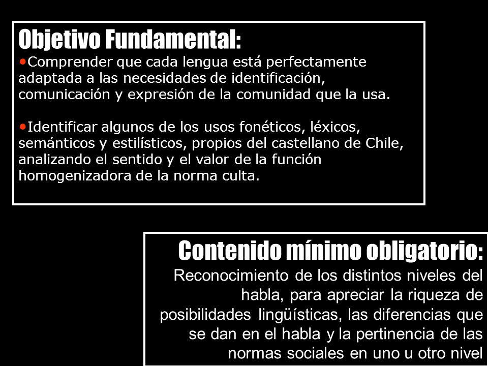 Objetivo Fundamental: