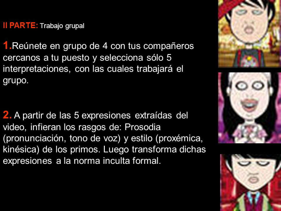II PARTE: Trabajo grupal