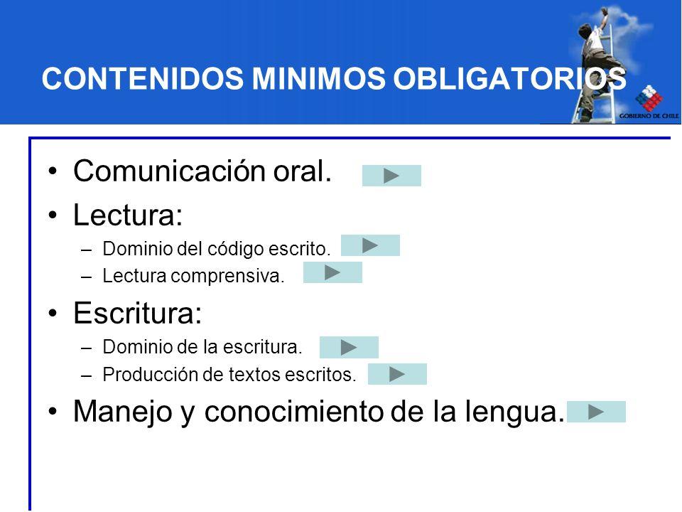 CONTENIDOS MINIMOS OBLIGATORIOS