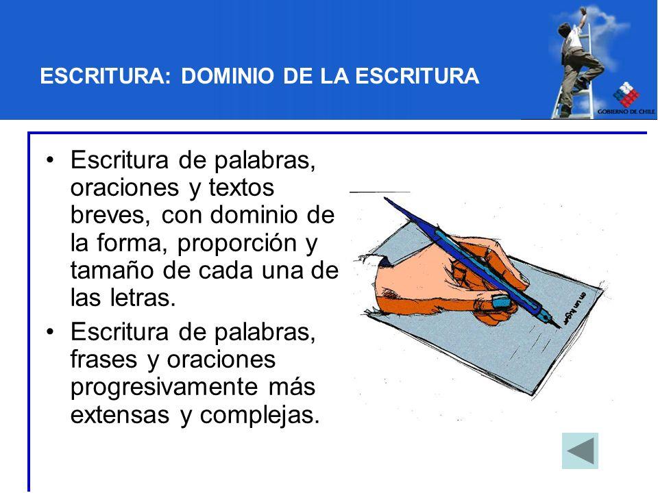 ESCRITURA: DOMINIO DE LA ESCRITURA