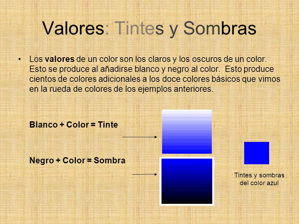 Valores: Tintes y Sombras