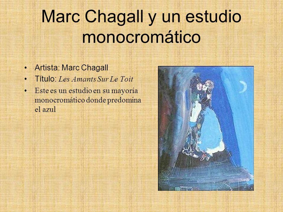 Marc Chagall y un estudio monocromático