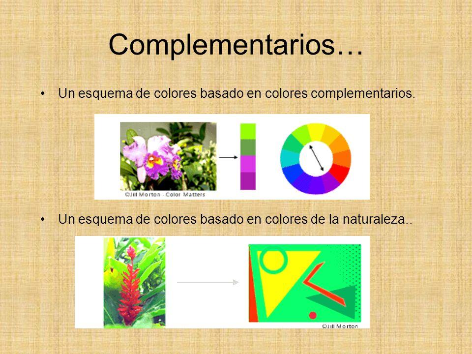 Complementarios… Un esquema de colores basado en colores complementarios.