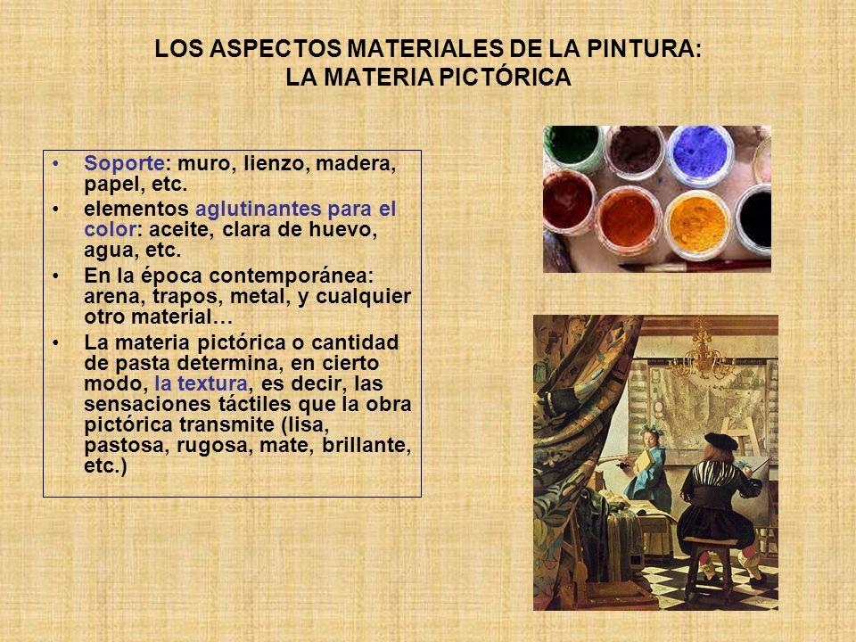 LOS ASPECTOS MATERIALES DE LA PINTURA: LA MATERIA PICTÓRICA